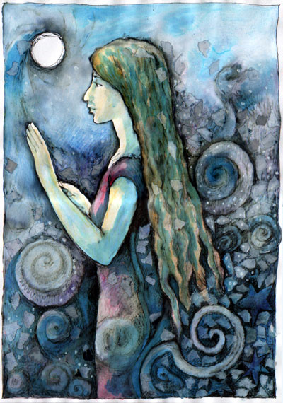 woman moon angel