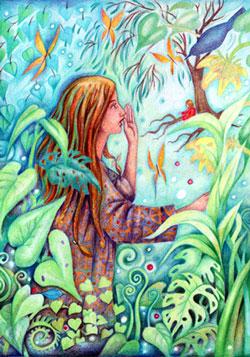 red-fruit-tree-woman-garden.jpg