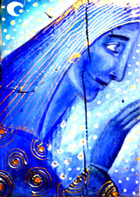 Electric Blue Goddess