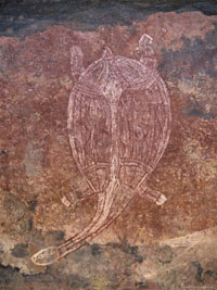 Turtle rock art