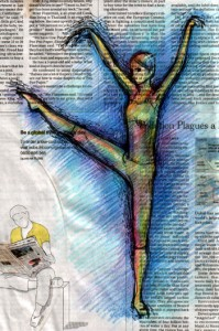 Newspaper dancer 2