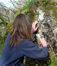 Alexi engraving rock