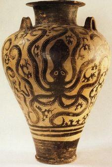 Minoan ceramic jar after Thera explosion