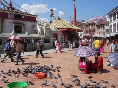 Boudhanath scene