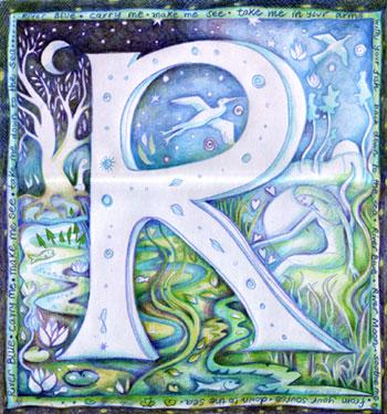 R Illuminated letter