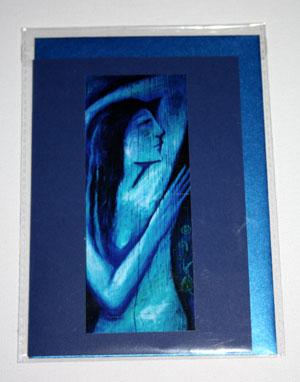 Blue Goddess card - small