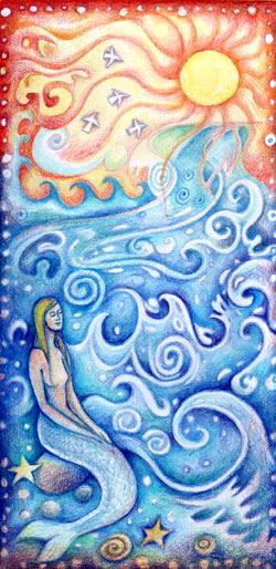 Mermaid for bottle
