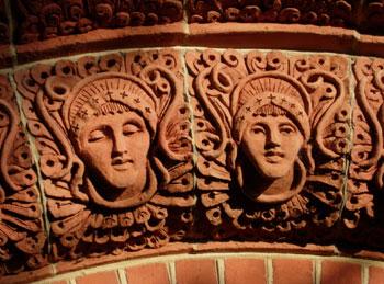 Watts Chapel faces