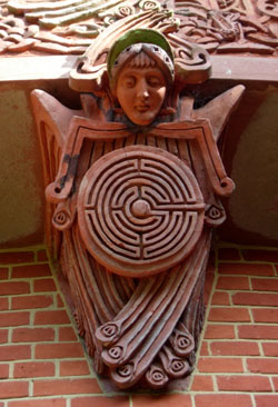 Watts Chapel labyrinth feature