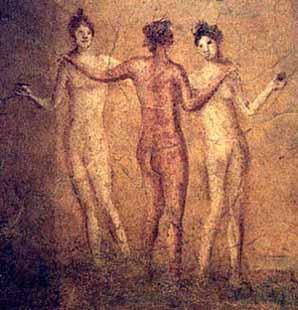 Three Graces fresco