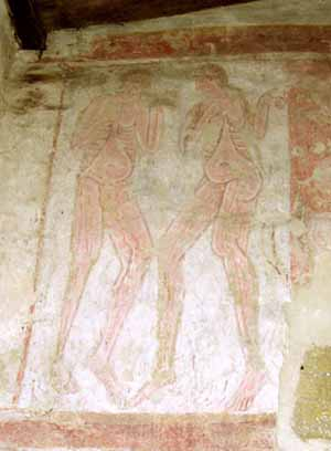 Adam and Eve wall painting Hardham church