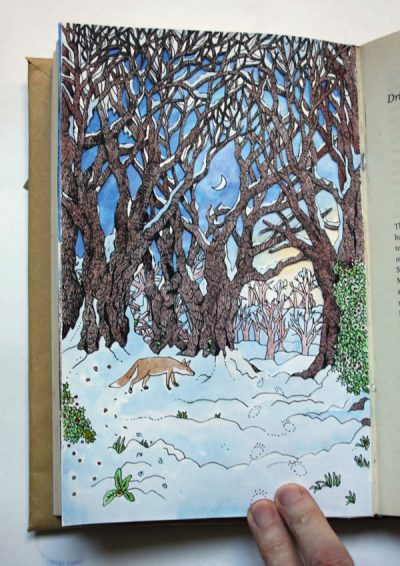 Page from The Wintry Wood Altered Book