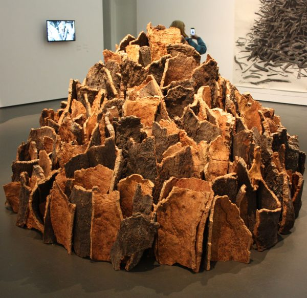 David Nash cork bark sculpture