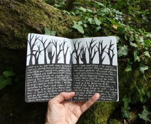 Forest sketchbook - writing