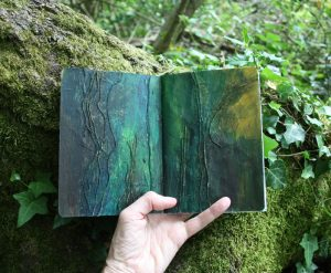 Forest sketchbook - acrylic