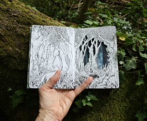 Forest sketchbook - papercut