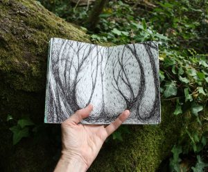 Forest sketchbook- scratchy trees