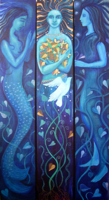 Water Goddess Triptych
