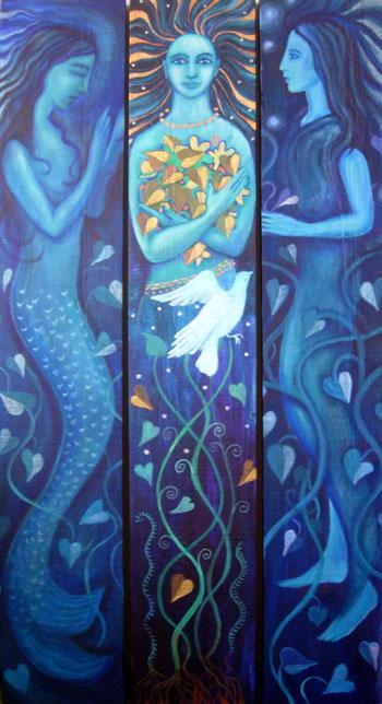 Water Goddess Triptych