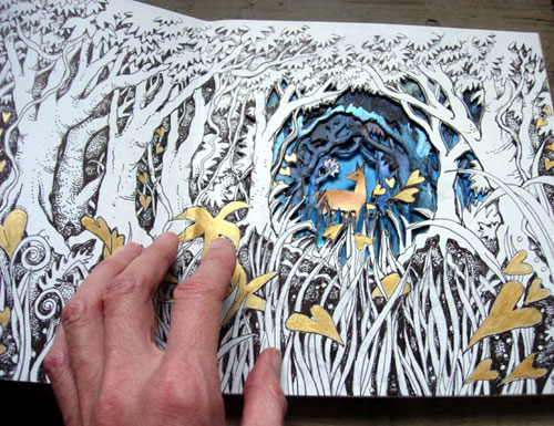 Detail in Altered Forest Book