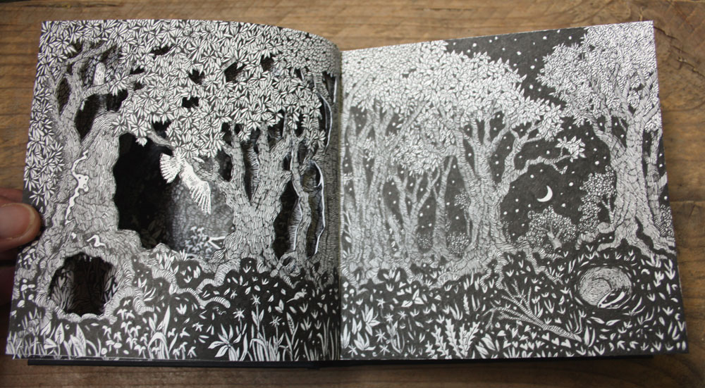 Spread four of my altered sketchbook.