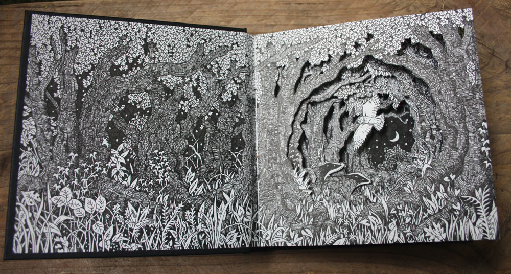 The first spread of my altered sketchbook.