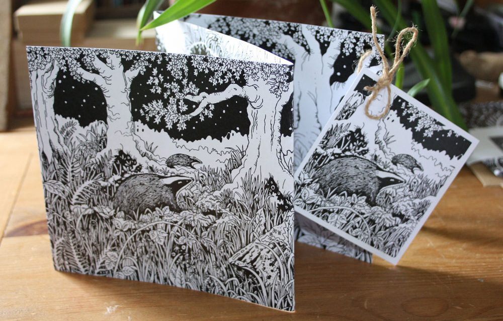 The Badger Sett Concertina Card