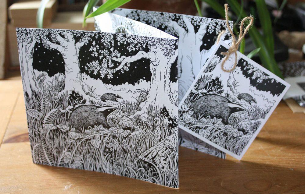 The Badger Sett Concertina Card