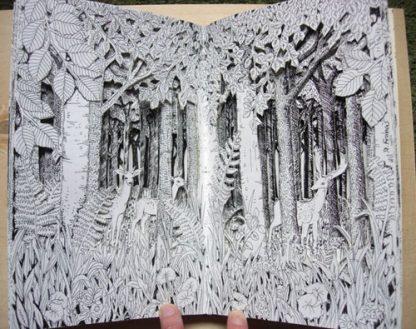 Beech Wood Altered Book