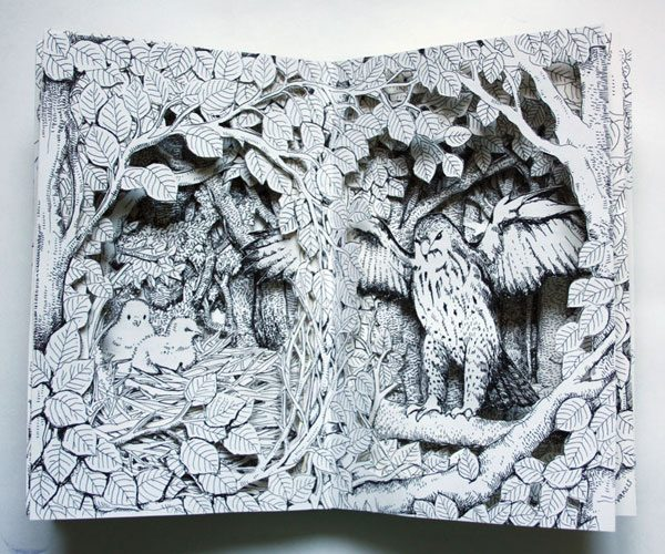 Buzzard Altered Book