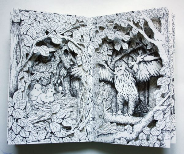 Buzzard Nest Altered book