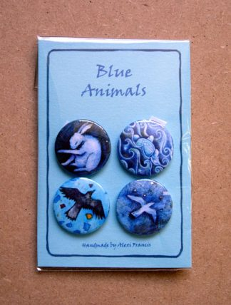 Blue Animal Badges