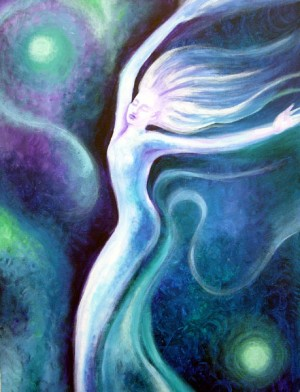 Blue Dancing woman