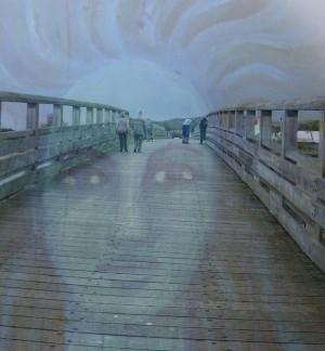 The Blue Lady of The Old Shoreham Footbridge