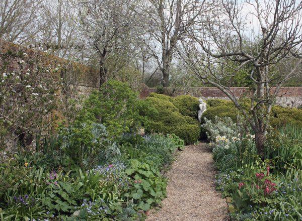 Charleston garden with statue