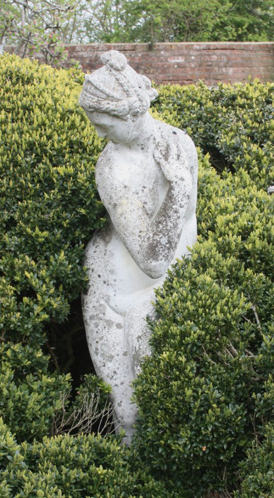 Statue of woman in Charleston garden