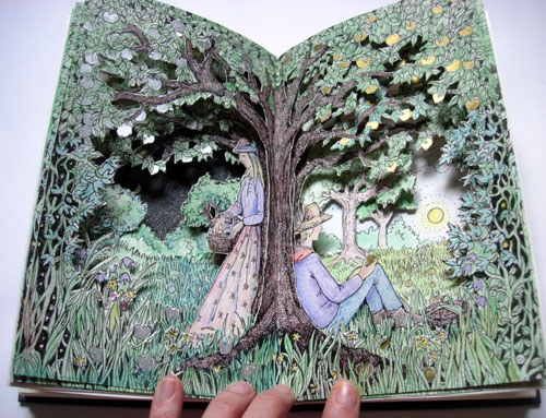 Silver Apples Golden Apples Altered Book