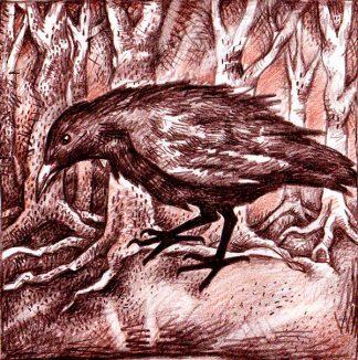 The Crow Greetings Card