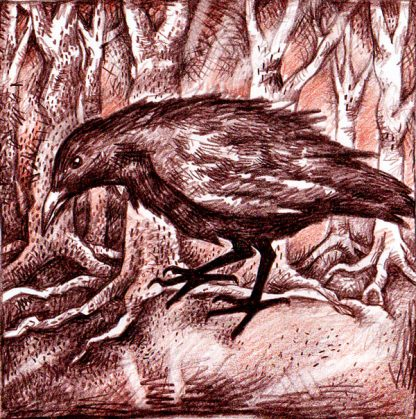 The Crow Greetings Card