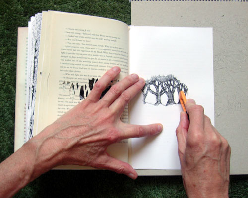 Cutting a Page.