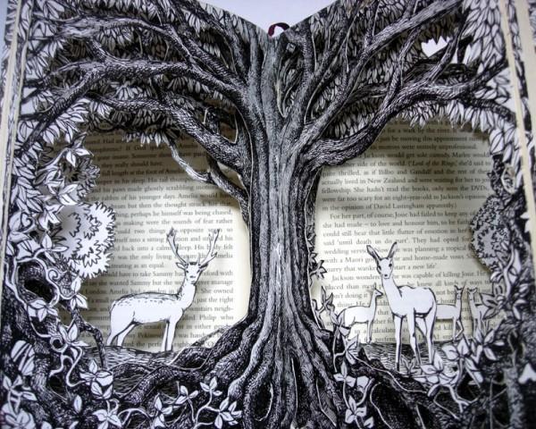 Forest Deer Altered Book