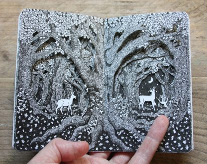 Deer Forest Altered Sketchbook