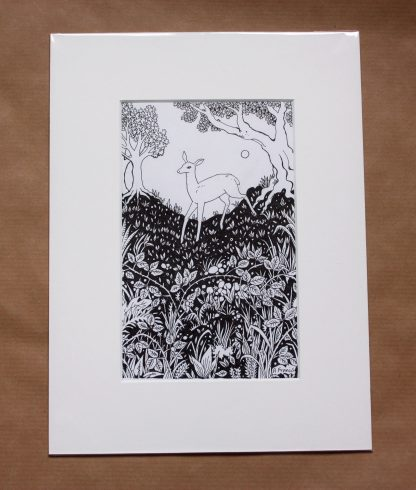 Deer in a Glade