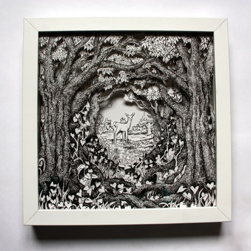 Deer in the Glade Box Frame