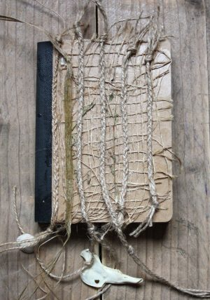 Diary with hemp string.