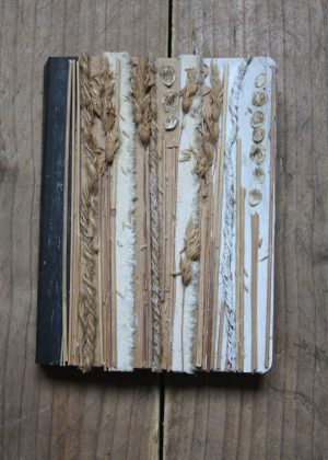 Diary covered with grasses