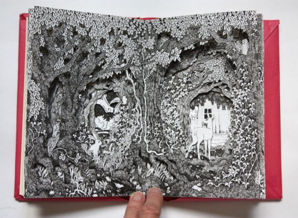 Dragon in the Woods altered book