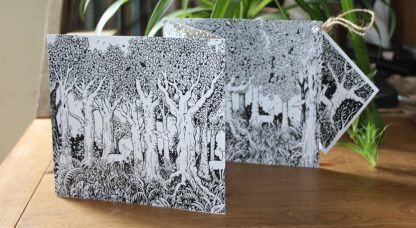 In the Forest concertina greetings card