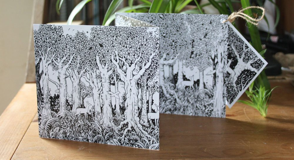 In The Forest Concertina Card