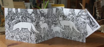Foxes Abroad Concertina Card - front